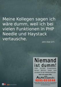 Needle und Haystack?! Verdammte Axt!